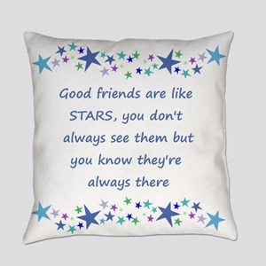 Good Friends are like Stars Inspirational Quote Ev