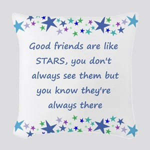 Good Friends are like Stars Inspirational Quote Wo