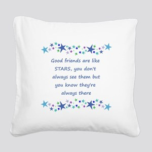 Good Friends are like Stars Inspirational Quote Sq