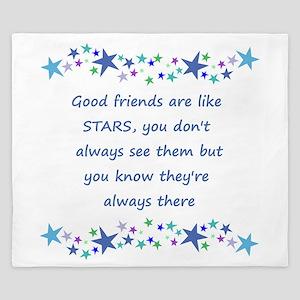 Good Friends are like Stars Inspirational Quote Ki