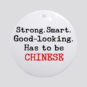 be chinese Round Ornament