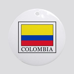 Colombia Round Ornament