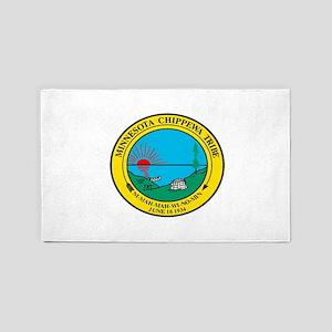 Minnesota Chippewa Flag Area Rug