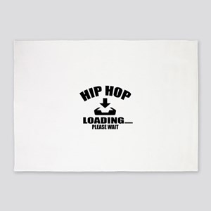 Hip Hop Loading Please Wait 5'x7'Area Rug