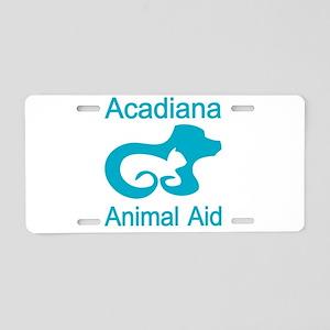 Acadiana Animal Aid - white Aluminum License Plate