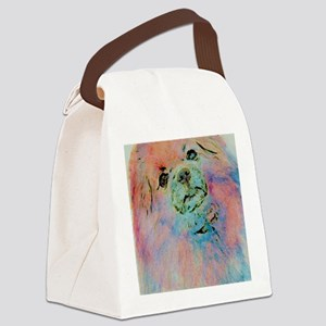 Watercolor Tibbie Canvas Lunch Bag
