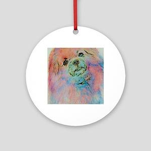 Watercolor Tibbie Round Ornament