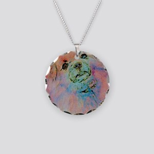 Watercolor Tibbie Necklace Circle Charm