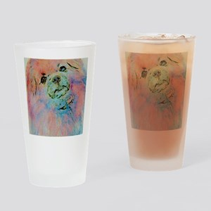 Watercolor Tibbie Drinking Glass