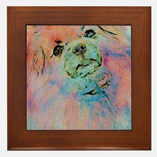Watercolor Tibbie Framed Tile