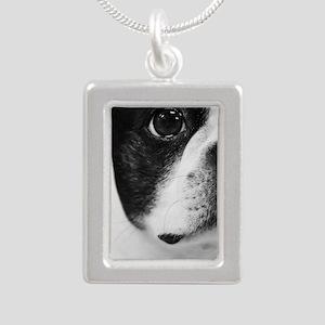 Sweet Boston Silver Portrait Necklace
