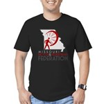 MoBikeFed Logo Men's Fitted T-Shirt (dark)