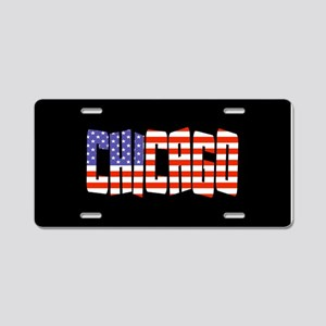 Patriotic Chicago Aluminum License Plate