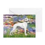 Lilies & Whippet Greeting Card