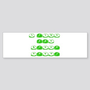 Green M&M's Bumper Sticker