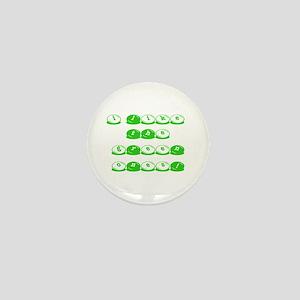 Green M&M's Mini Button