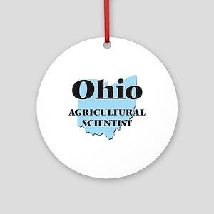 Ohio Agricultural Scientist Round Ornament