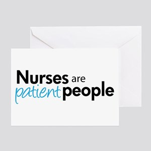 nurses are patient people blue Greeting Card