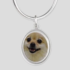 Sweet lil Lady Silver Oval Necklace