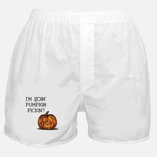 Pumpkin Picking Boxer Shorts