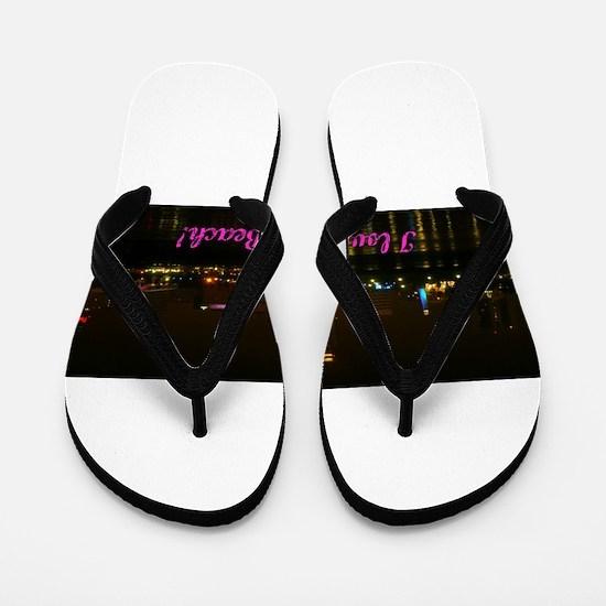 I Love Long Beach Skyline Night Flip Flops