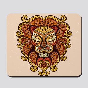Abstract Lion Head Mousepad