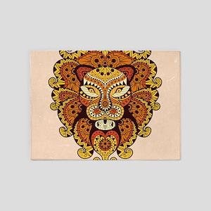 Abstract Lion Head 5'x7'Area Rug