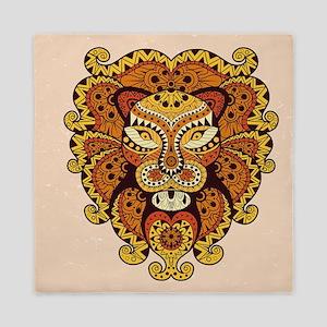 Abstract Lion Head Queen Duvet