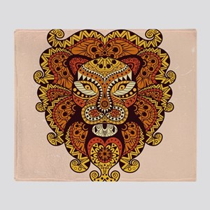 Abstract Lion Head Throw Blanket