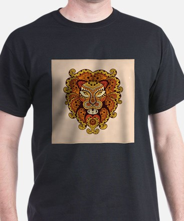Abstract Lion Head T-Shirt