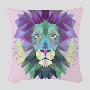 Triangle Colorful Lion Head Woven Throw Pillow