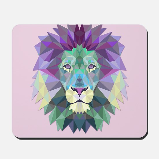 Triangle Colorful Lion Head Mousepad