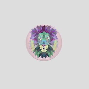Triangle Colorful Lion Head Mini Button