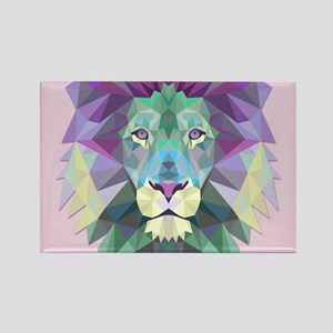 Triangle Colorful Lion Head Magnets