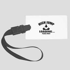 High Jump Loading Please Wait Large Luggage Tag