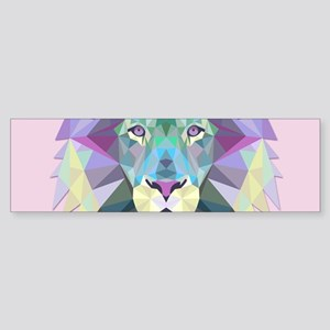 Triangle Colorful Lion Head Bumper Sticker
