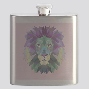 Triangle Colorful Lion Head Flask