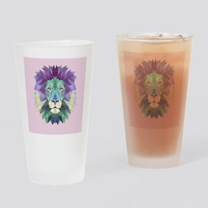 Triangle Colorful Lion Head Drinking Glass