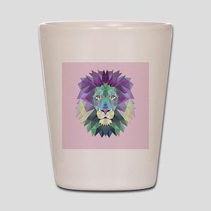 Triangle Colorful Lion Head Shot Glass