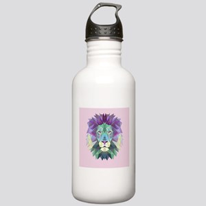 Triangle Colorful Lion Head Sports Water Bottle