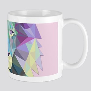 Triangle Colorful Lion Head Mugs