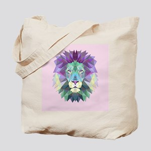 Triangle Colorful Lion Head Tote Bag