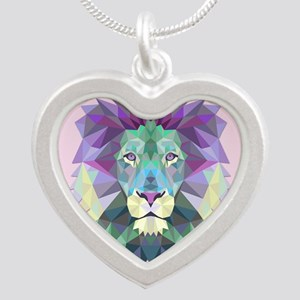 Triangle Colorful Lion Head Necklaces