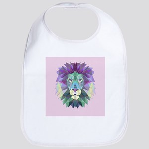 Triangle Colorful Lion Head Bib