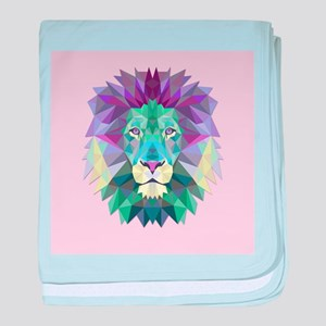 Triangle Colorful Lion Head baby blanket