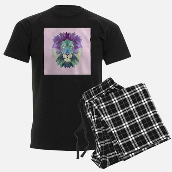 Triangle Colorful Lion Head pajamas