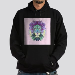 Triangle Colorful Lion Head Hoody
