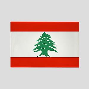 Flag of Lebanon Rectangle Magnet