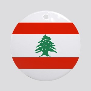 Flag of Lebanon Ornament (Round)