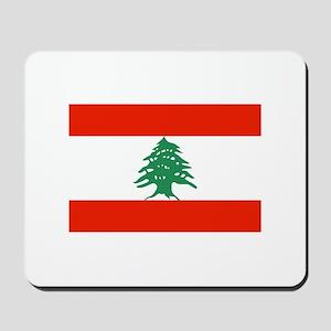 Flag of Lebanon Mousepad